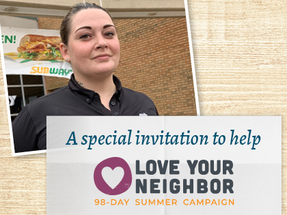 A special invitation to help by August 31